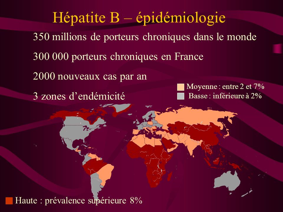 Hépatite B – épidémiologie