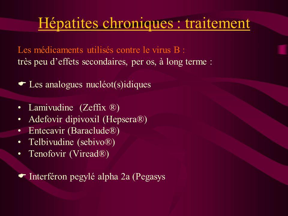 Hépatites chroniques : traitement