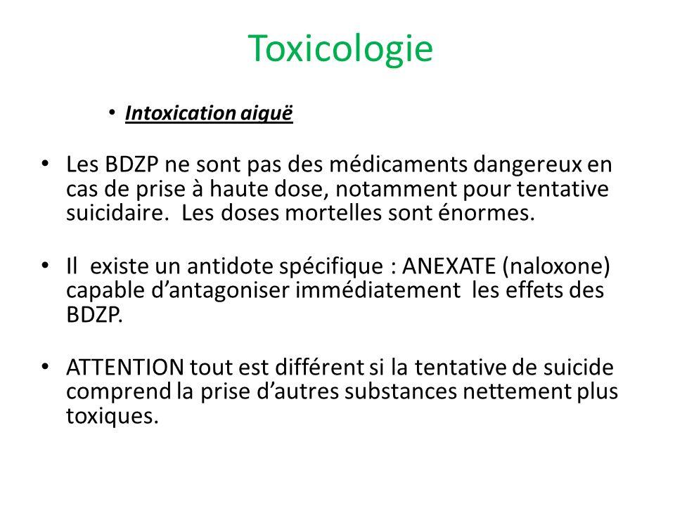 Toxicologie Intoxication aiguë.