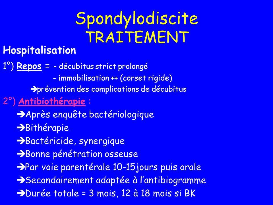 Spondylodiscite TRAITEMENT