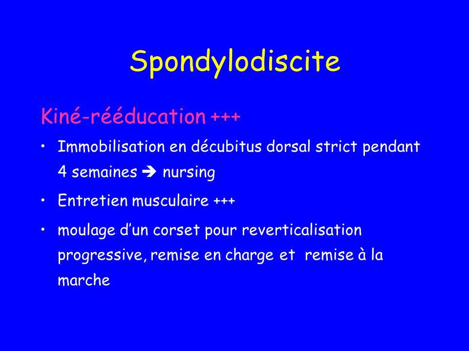 Spondylodiscite Kiné-rééducation +++