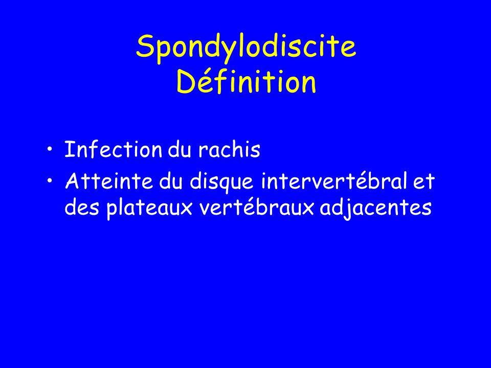 Spondylodiscite Définition