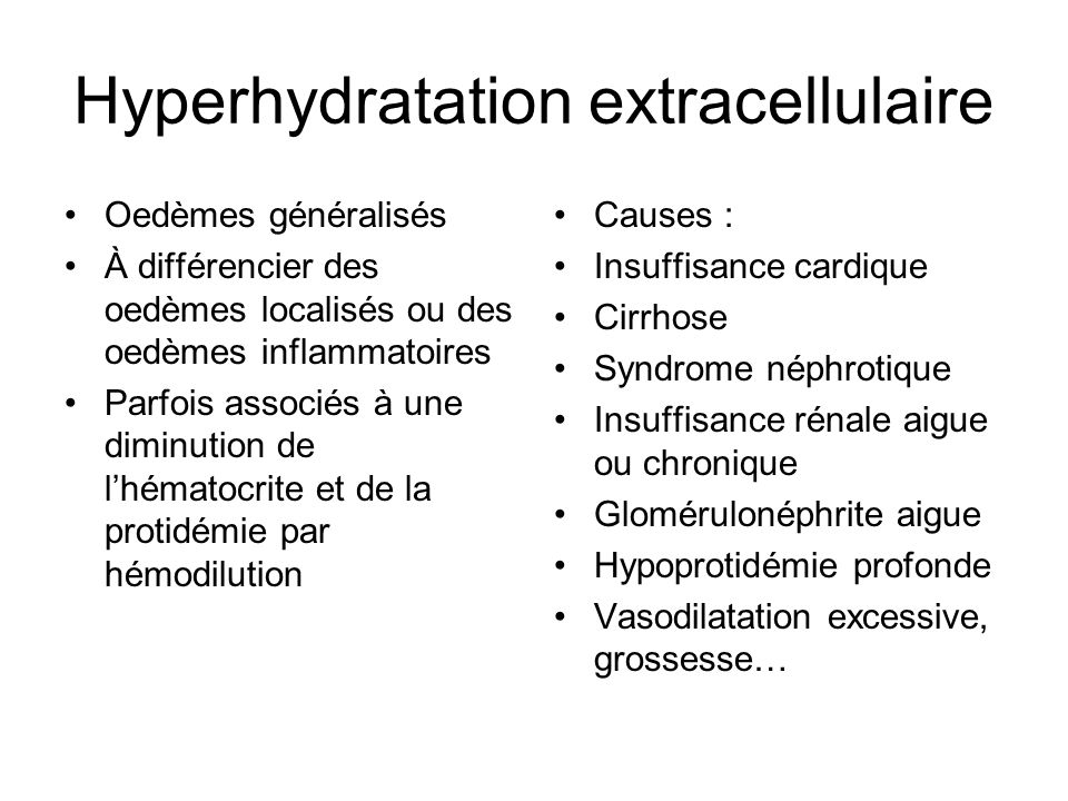 Hyperhydratation extracellulaire