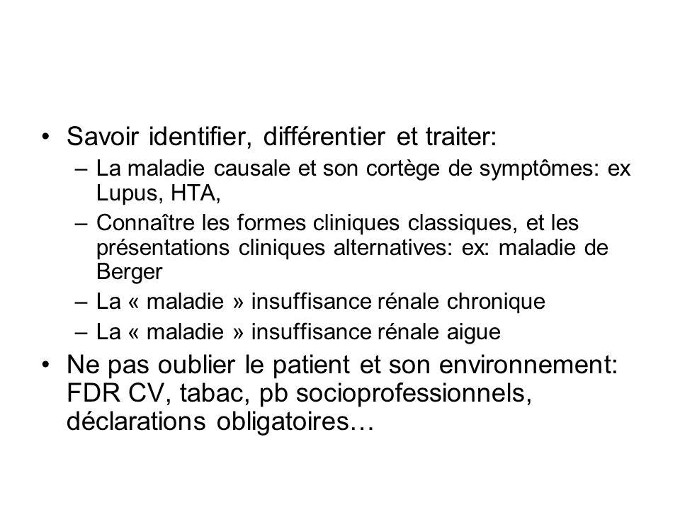 Savoir identifier, différentier et traiter: