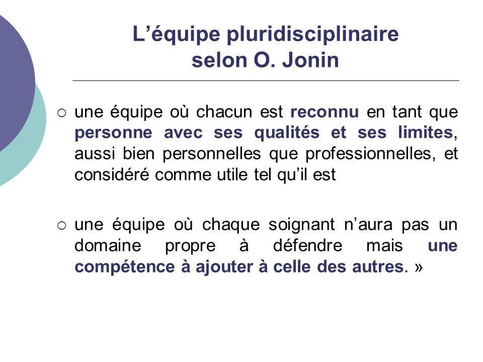 L'équipe pluridisciplinaire selon O. Jonin