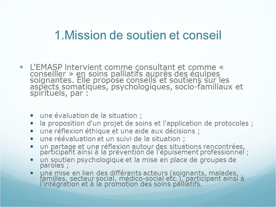 1.Mission de soutien et conseil
