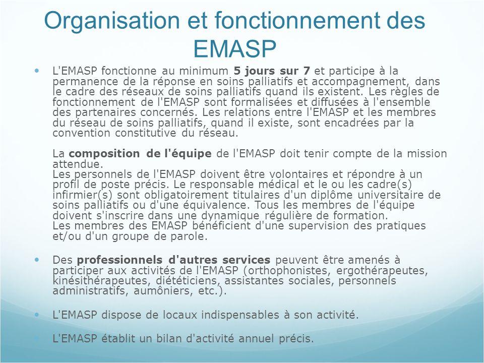 Organisation et fonctionnement des EMASP