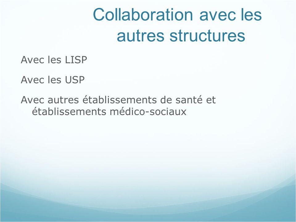 Collaboration avec les autres structures