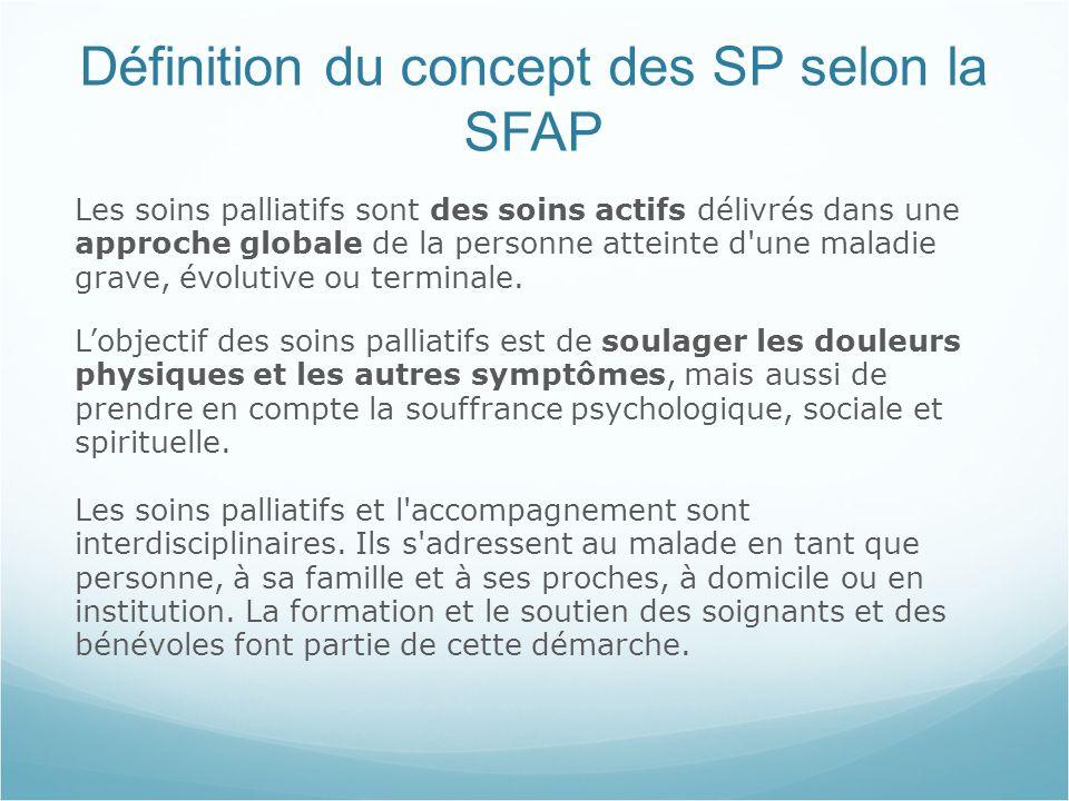 Définition du concept des SP selon la SFAP