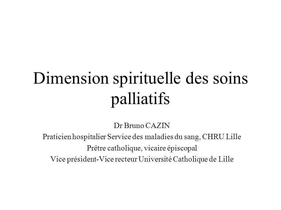 Dimension spirituelle des soins palliatifs