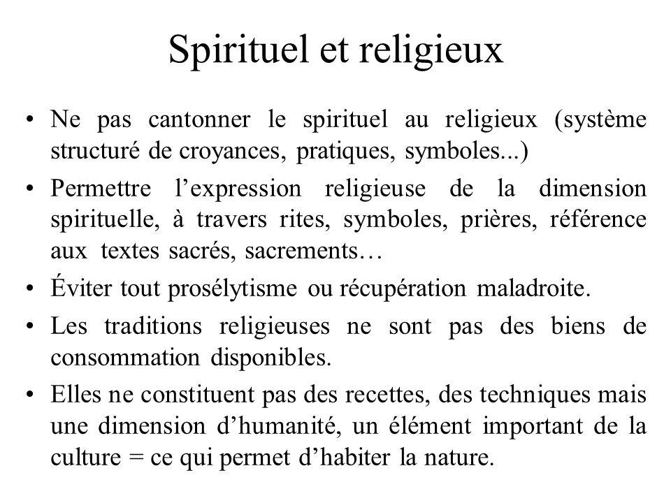 Spirituel et religieux