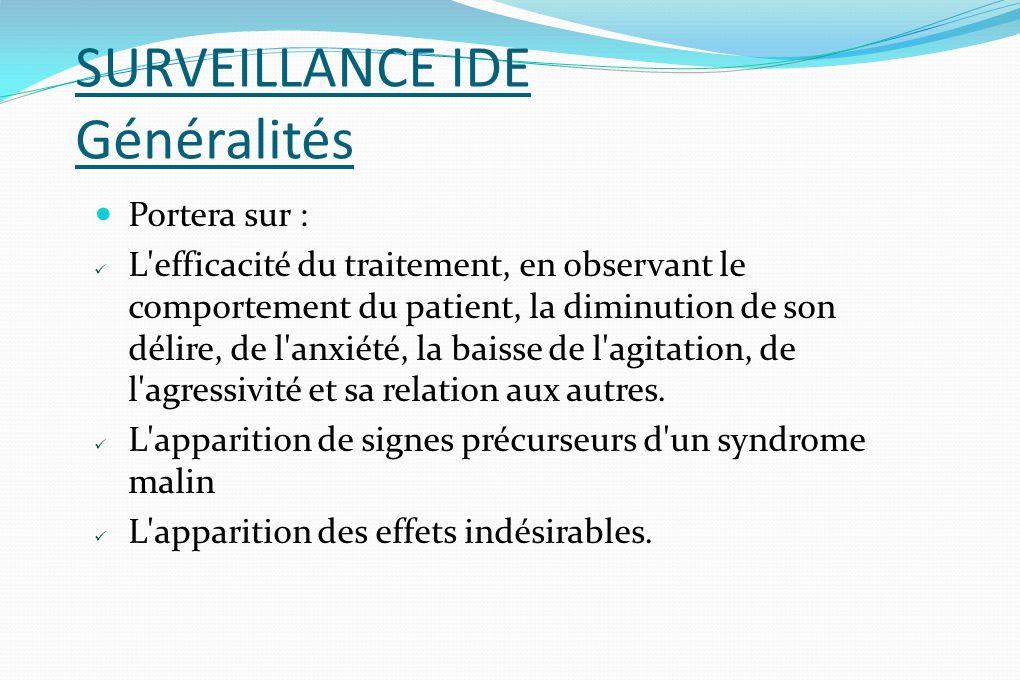 SURVEILLANCE IDE Généralités
