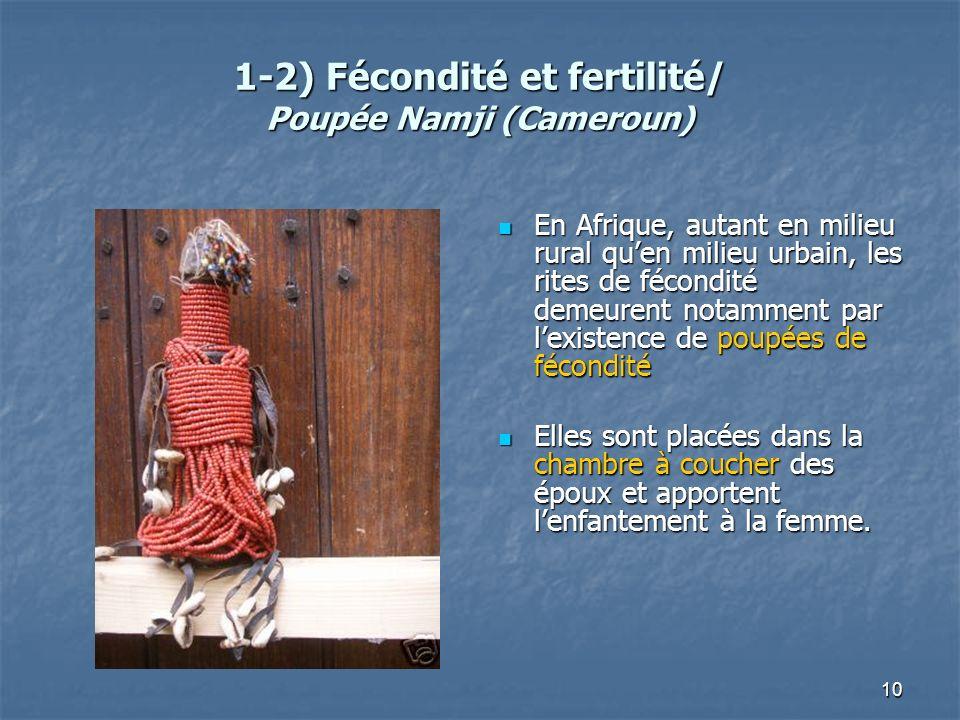 1-2) Fécondité et fertilité/ Poupée Namji (Cameroun)