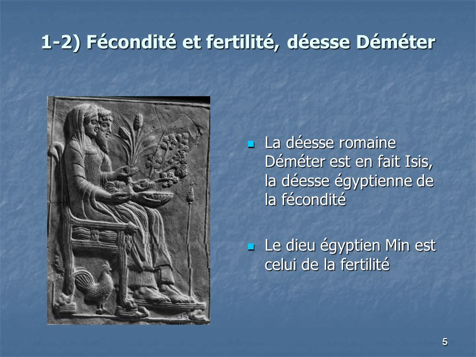 1-2) Fécondité et fertilité, déesse Déméter