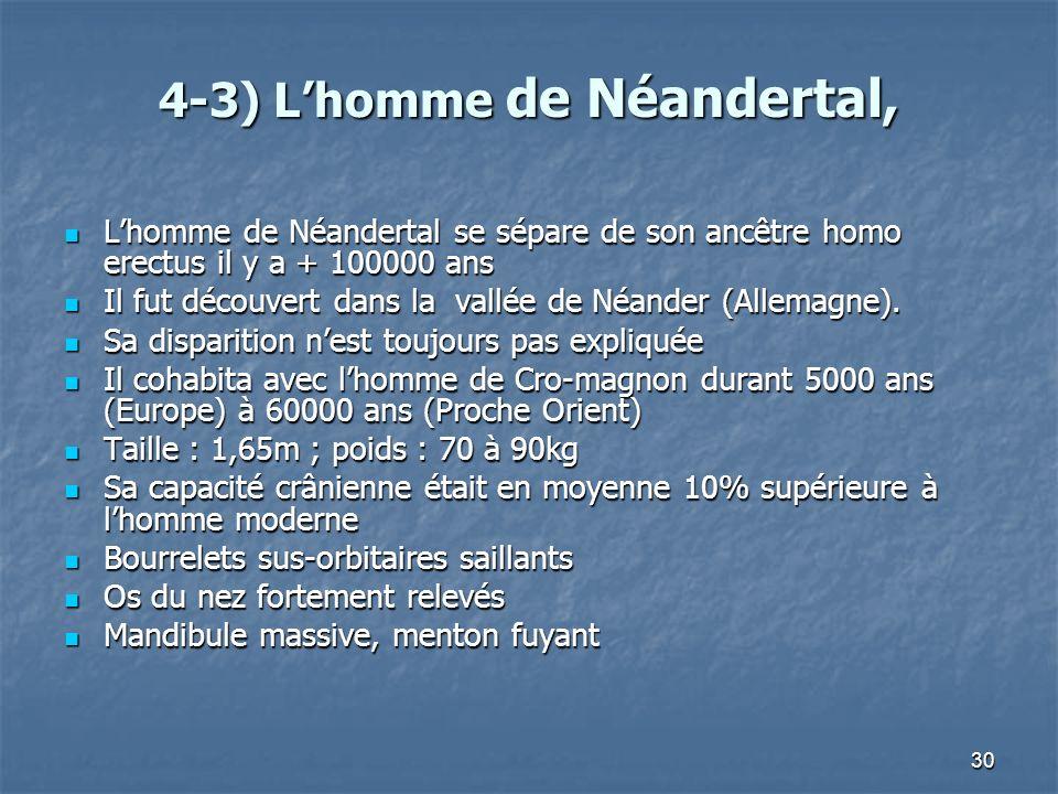 4-3) L'homme de Néandertal,