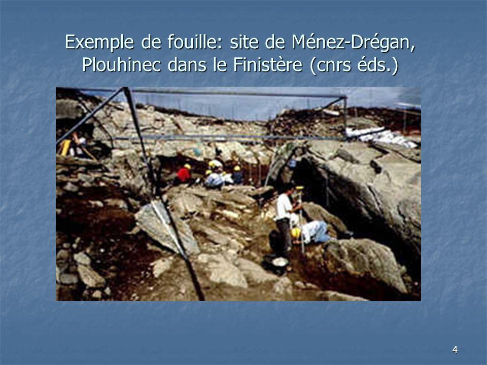 Exemple de fouille: site de Ménez-Drégan, Plouhinec dans le Finistère (cnrs éds.)