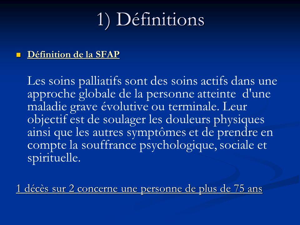 1) Définitions Définition de la SFAP.