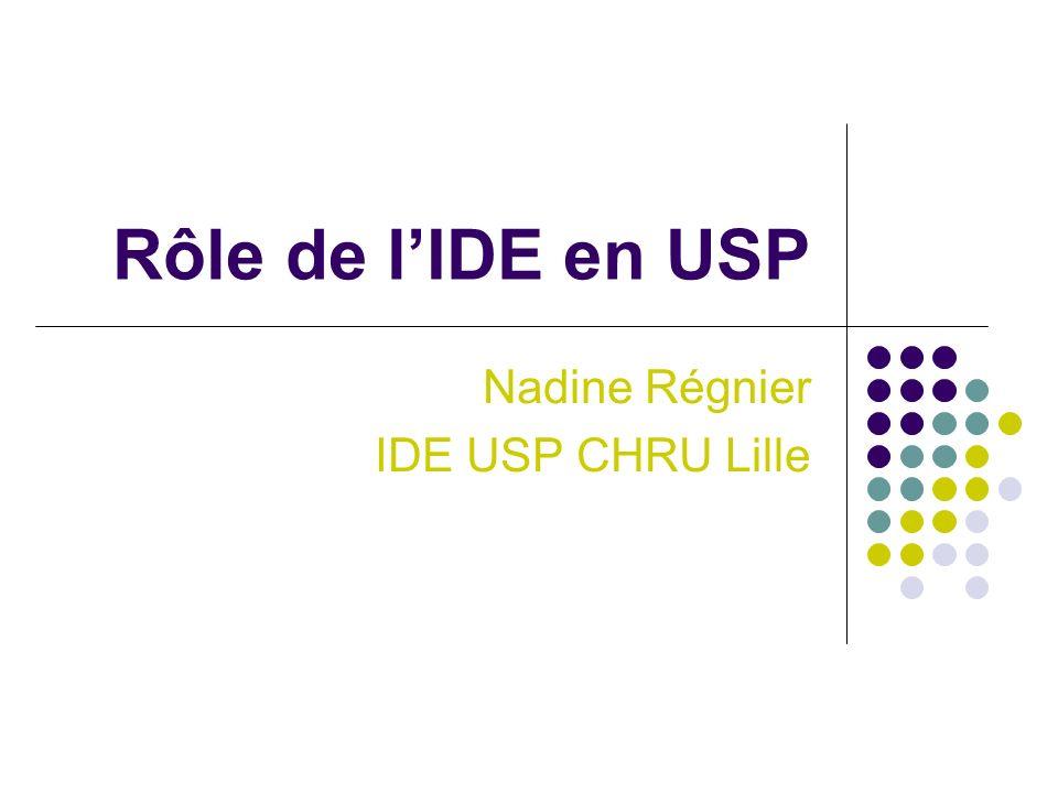 Nadine Régnier IDE USP CHRU Lille