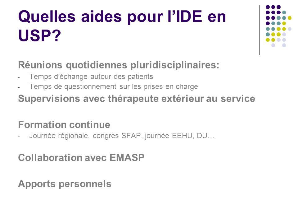 Quelles aides pour l'IDE en USP