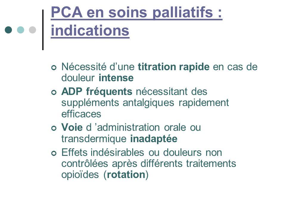 PCA en soins palliatifs : indications