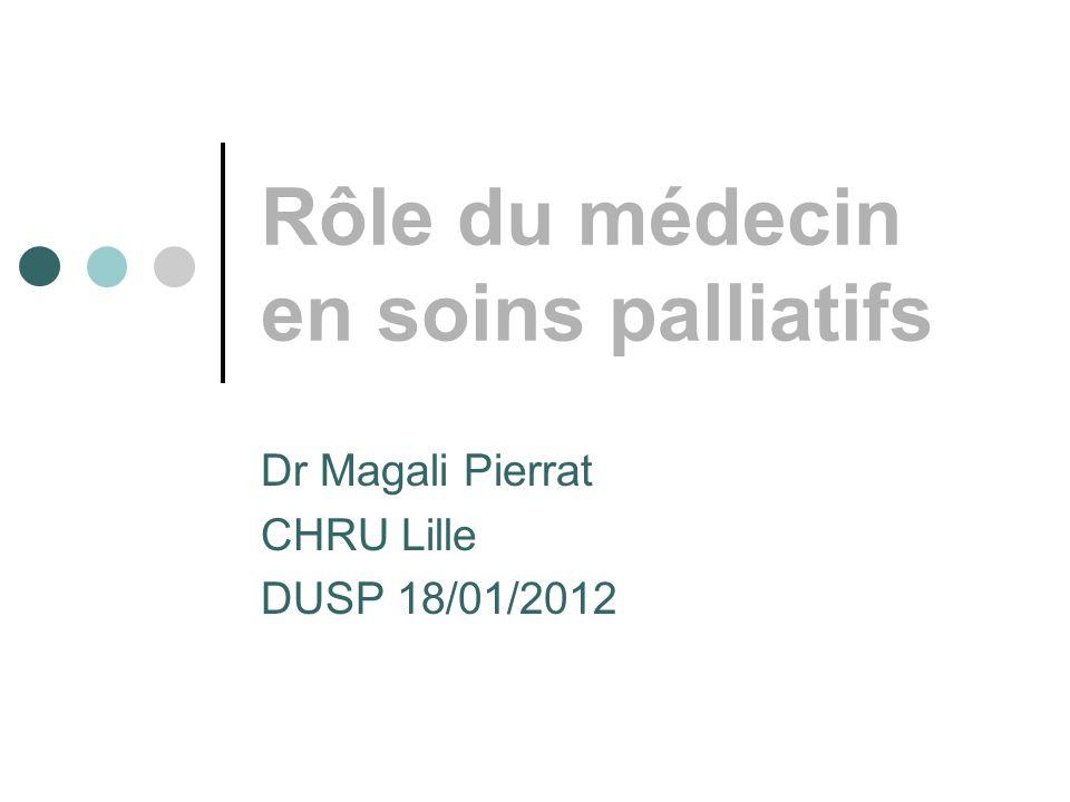 Rôle du médecin en soins palliatifs