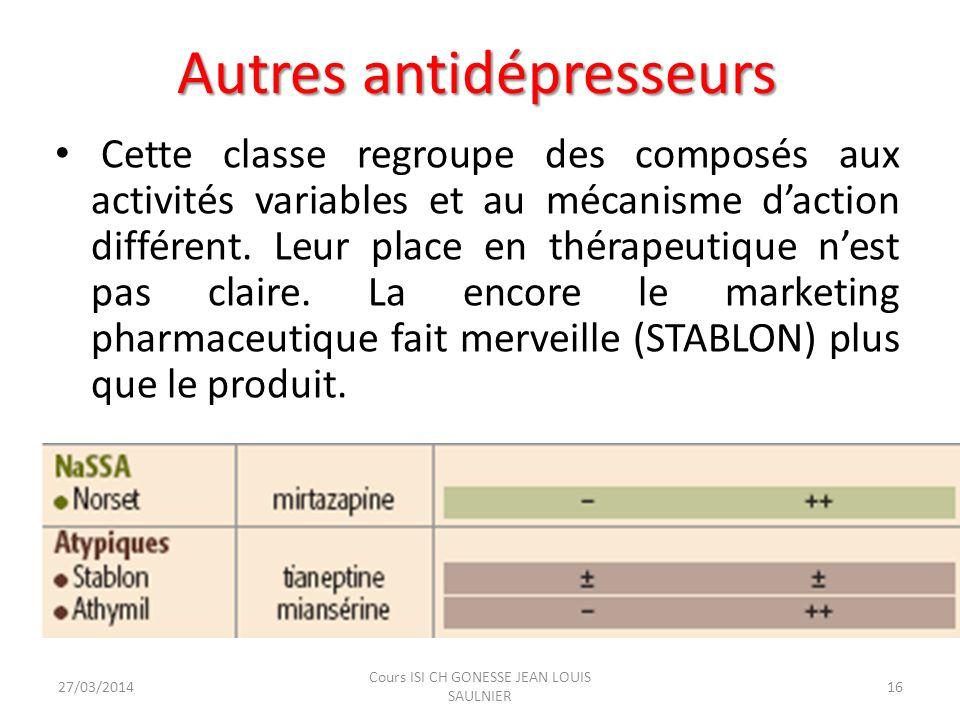 Autres antidépresseurs