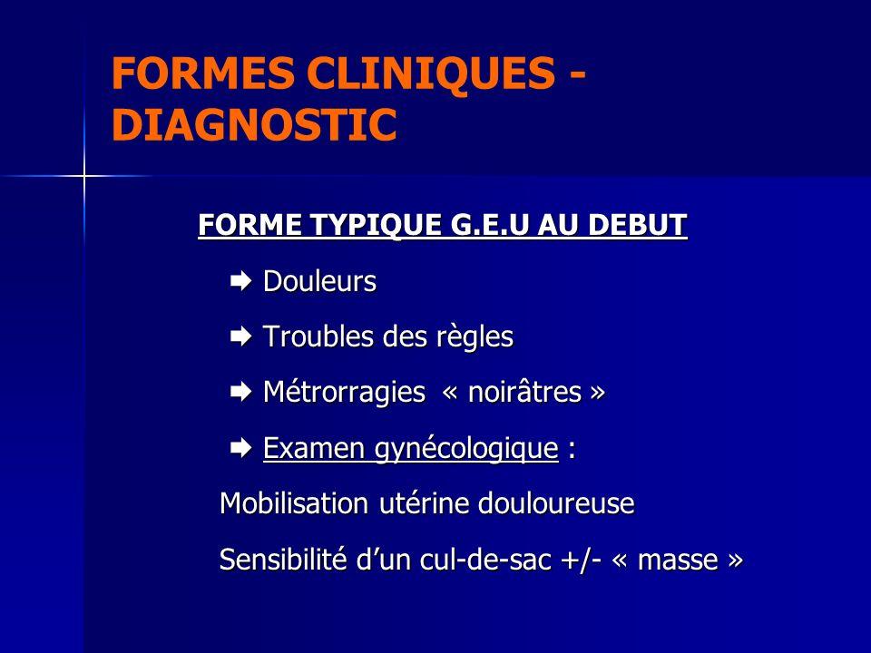 FORMES CLINIQUES - DIAGNOSTIC