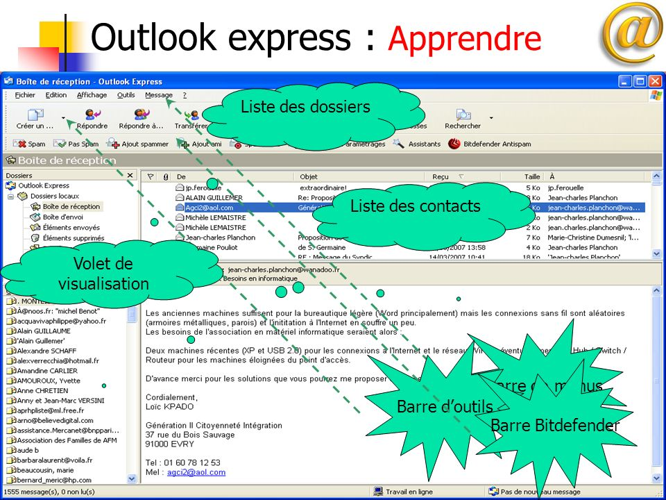 Outlook express : Apprendre