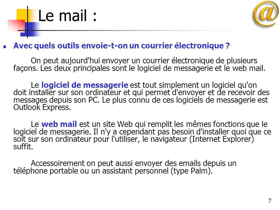 Le mail :