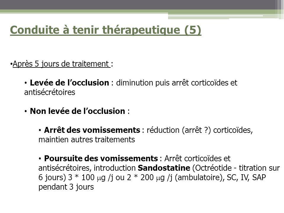 Conduite à tenir thérapeutique (5)