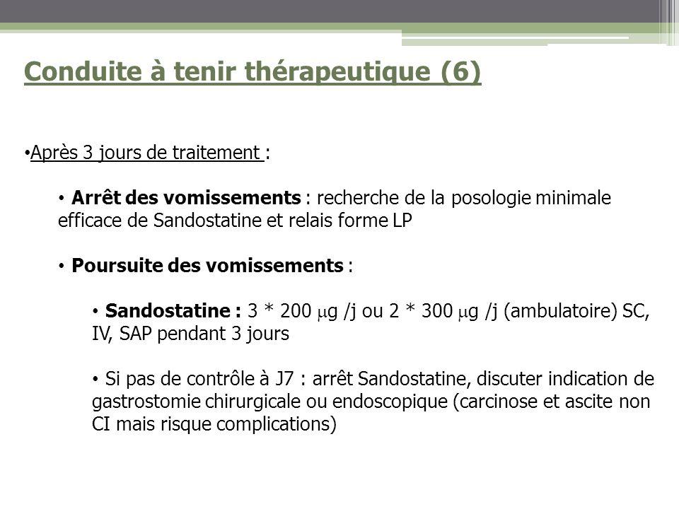 Conduite à tenir thérapeutique (6)