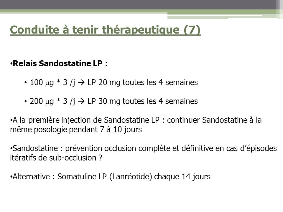 Conduite à tenir thérapeutique (7)