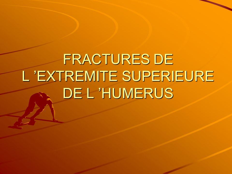 FRACTURES DE L 'EXTREMITE SUPERIEURE DE L 'HUMERUS