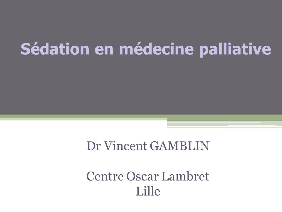 Sédation en médecine palliative