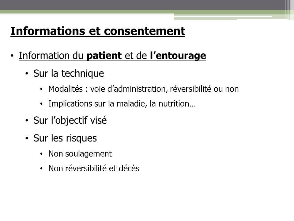 Informations et consentement