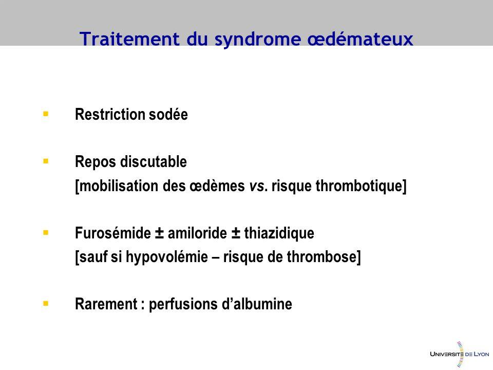 Traitement du syndrome œdémateux