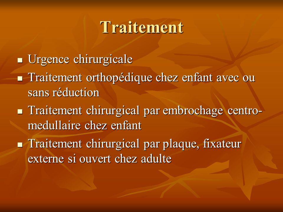 Traitement Urgence chirurgicale