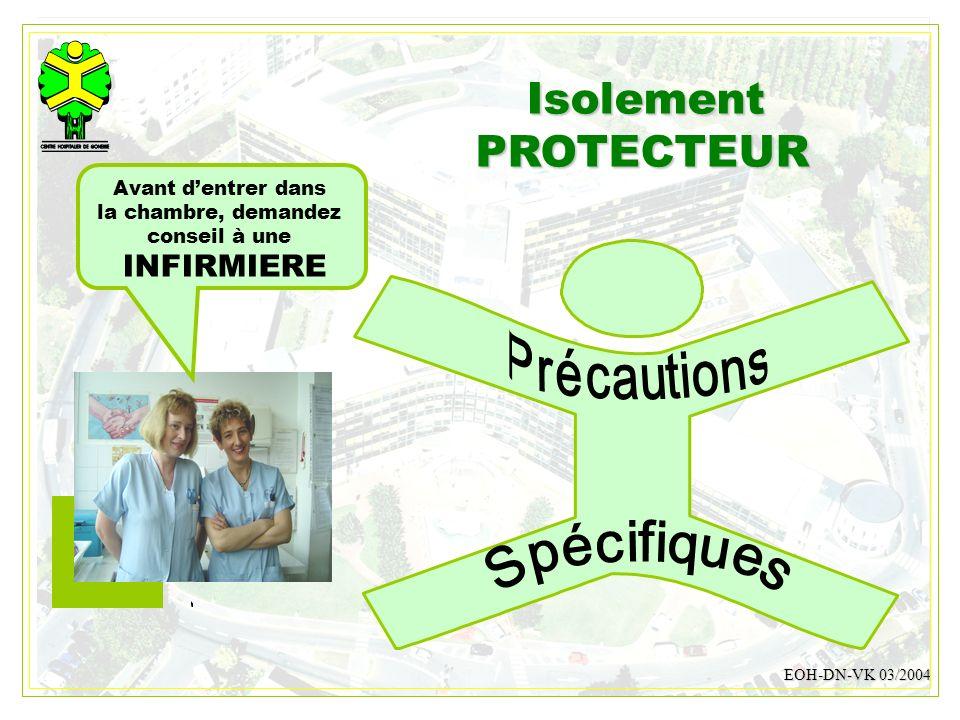 Isolement PROTECTEUR INFIRMIERE Spécifiques Précautions