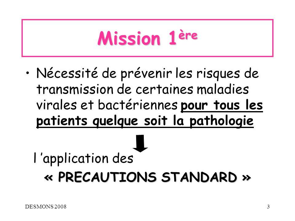 « PRECAUTIONS STANDARD »