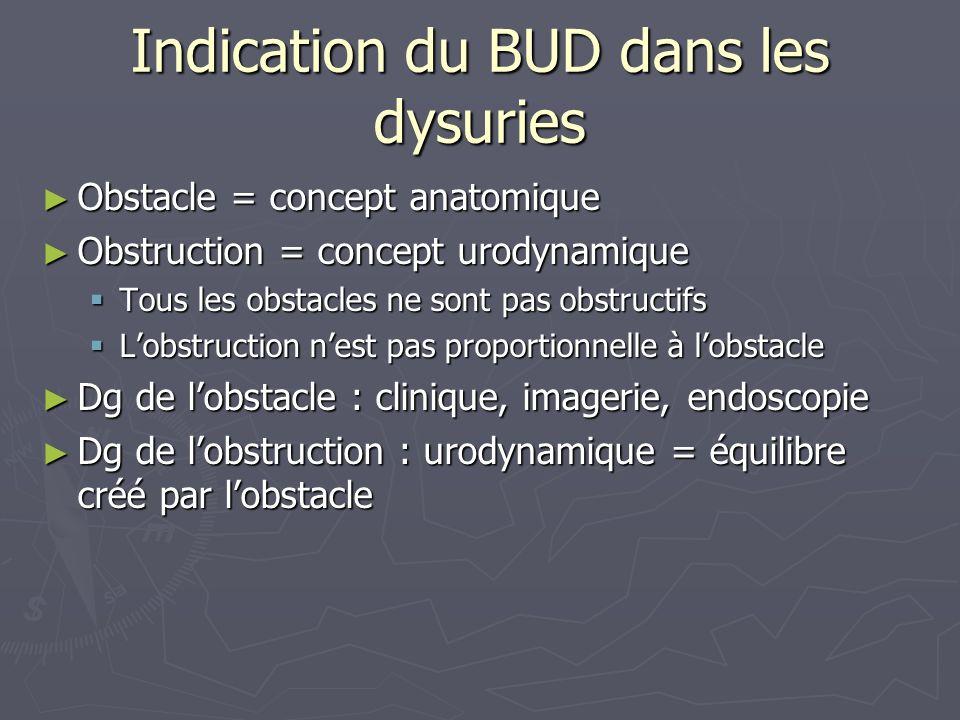 Indication du BUD dans les dysuries