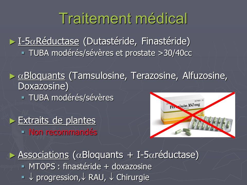 Traitement médical I-5Réductase (Dutastéride, Finastéride)