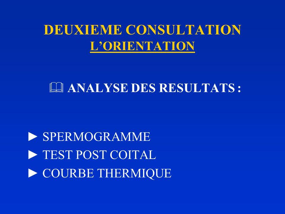 DEUXIEME CONSULTATION L'ORIENTATION