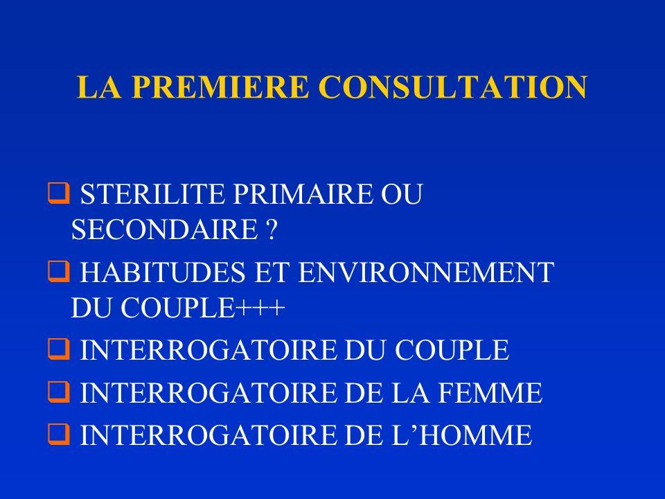 LA PREMIERE CONSULTATION