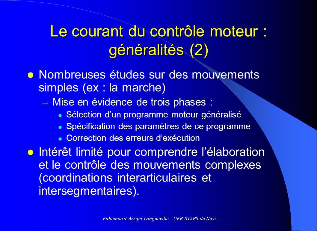 Le courant du contrôle moteur : généralités (2)