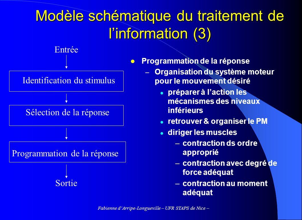Modèle schématique du traitement de l'information (3)
