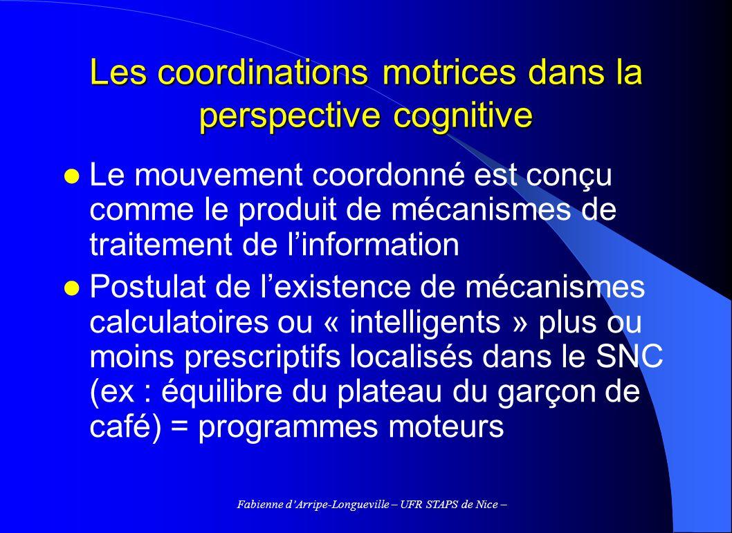 Les coordinations motrices dans la perspective cognitive