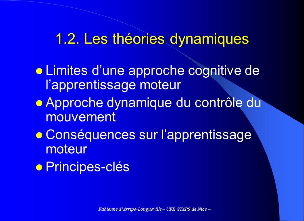1.2. Les théories dynamiques
