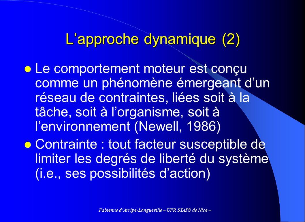 L'approche dynamique (2)