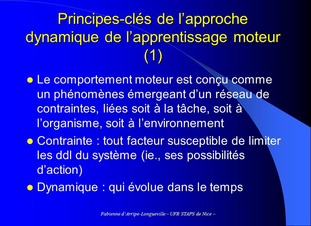 Principes-clés de l'approche dynamique de l'apprentissage moteur (1)