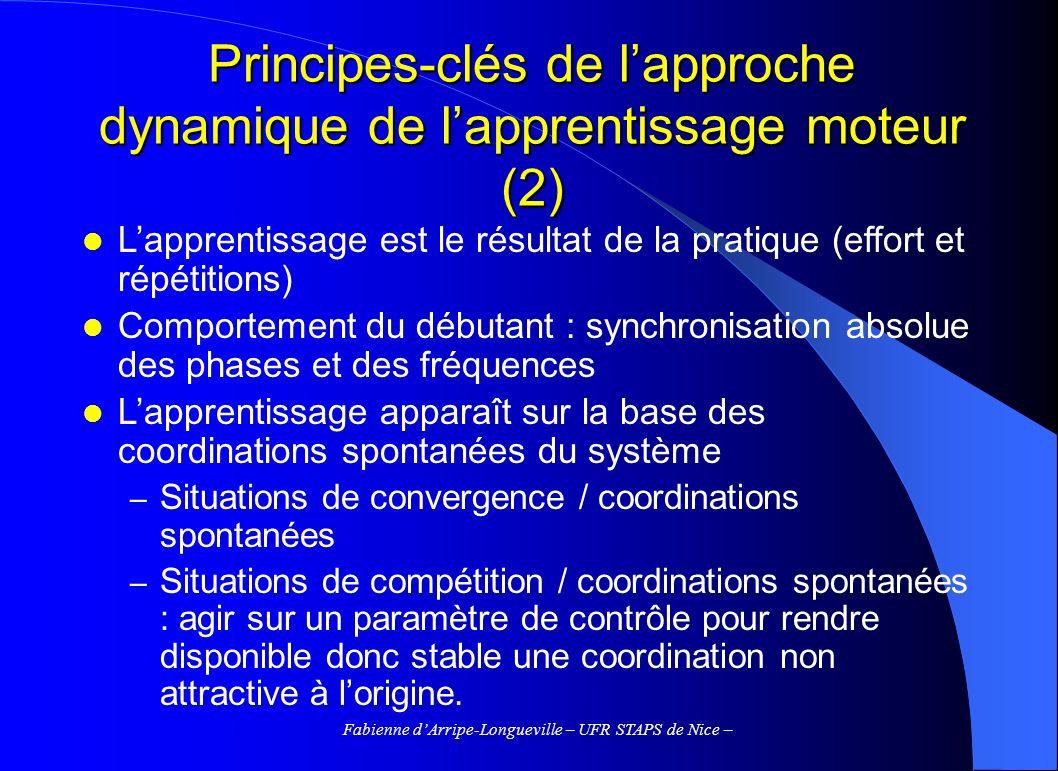 Principes-clés de l'approche dynamique de l'apprentissage moteur (2)
